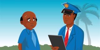 Suspeito do polícia ilustração stock