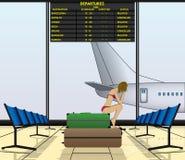 Suspence do voo ilustração stock