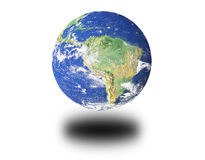 Suspended 3d Earth Render Royalty Free Stock Images