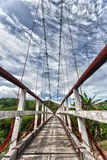 Suspended bridge Stock Images