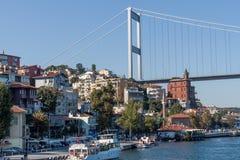 Suspended bridge on the Bosphorus Stock Photos