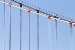 Suspended bridge cables Royalty Free Stock Images