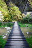 Suspended bridge in Cheile Turzii Royalty Free Stock Images