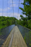 Suspended bridge Quebec Royalty Free Stock Photo