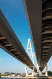 Suspended bridge in St.Petersburg Stock Photo