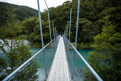 Suspended bridge to the forest Royalty Free Stock Photography