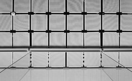 Suspended ceiling with curtain (Black and White) Royalty Free Stock Photography
