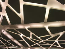 A suspended futuristic ceiling with modern lighting Stock Images