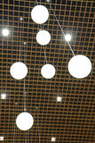 Suspended Globe Ceiling Lights Stock Images
