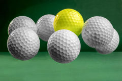 Suspended Golf Balls Stock Photos