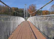 Suspended pedestrian bridge Stock Image