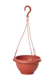Suspended plastic flowerpot for plants Stock Photography