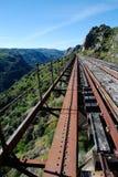 Suspended railway in bridge Royalty Free Stock Images