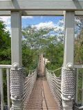 Suspended rope bridge Stock Photography