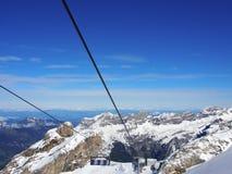 Suspended ropeway in Alps Titlis, Engelberg, Switzerland Stock Photo