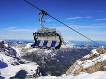 Suspended ropeway in Alps Titlis, Engelberg, Switzerland. Pic of Suspended ropeway in Alps Titlis, Engelberg, Switzerland Stock Photography