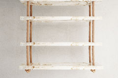Suspended shelves grey Royalty Free Stock Photography