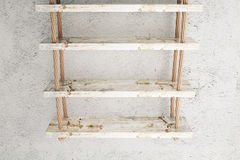 Suspended shelves old Stock Image