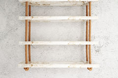 Suspended shelves white Stock Photos