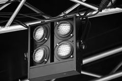 Suspended stage lights Stock Photo