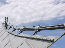 Suspended steel structure of a music bowl Stock Images
