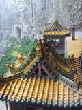 The Suspended Temple�xuankong temple� Royalty Free Stock Images