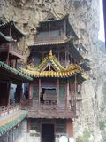 The Suspended Temple(xuankong temple) Royalty Free Stock Image
