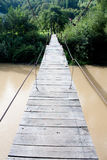 Suspended wood bridge Royalty Free Stock Photos