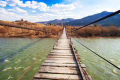 Free Suspended Wooden Bridge Royalty Free Stock Image - 14869596