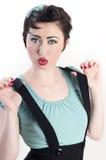 Suspender Pinup Girl Stock Photo