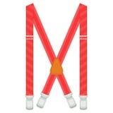 Suspenders απεικόνιση που απομονώνεται στο άσπρο υπόβαθρο Στοκ Φωτογραφίες