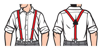 suspenders ilustração royalty free