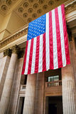 Suspensão da bandeira americana Foto de Stock Royalty Free