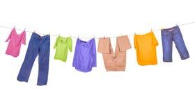 Suspensão da roupa Imagens de Stock
