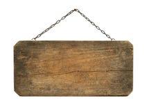 Suspensão de madeira do sinal Fotografia de Stock
