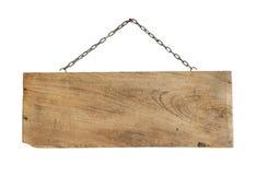 Suspensão de madeira do sinal imagens de stock