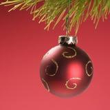 Suspensão do ornamento do Natal imagem de stock royalty free