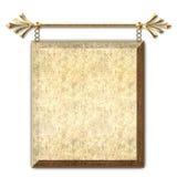 Suspensão do sinal do ouro Foto de Stock Royalty Free