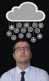 Suspensão dos ícones do computador Imagem de Stock