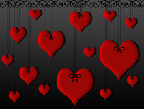 Suspensão dos corações Fotografia de Stock Royalty Free