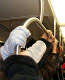 Suspensão sobre no metro Imagem de Stock