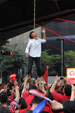 Suspensão zombada em um protesto vermelho da camisa em Banguecoque Imagem de Stock