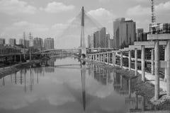 Suspensed bridge stock images