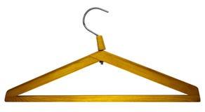 Suspensión de ropa de madera Foto de archivo