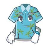 Suspensión hawaiana de las camisas de la historieta que espera detrás de la puerta stock de ilustración