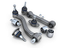 Suspension arm and ball joint car Stock Image