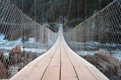 Suspension bridge. A suspension bridge in the Tsitsikamma National Park in South Africa Stock Image