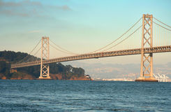 Suspension Bridge. Large suspension bridge over San Francisco Bay Stock Photography