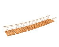 Suspension bridge. An illustration of wooden suspension bridge Stock Photography
