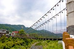 A suspension bridge Royalty Free Stock Photos